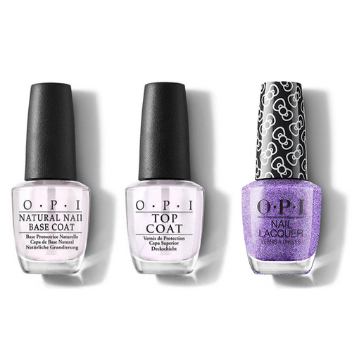 OPI - Nail Lacquer Combo - Base, Top & Pile On The Sprinkles 0.5 oz - #HRL06