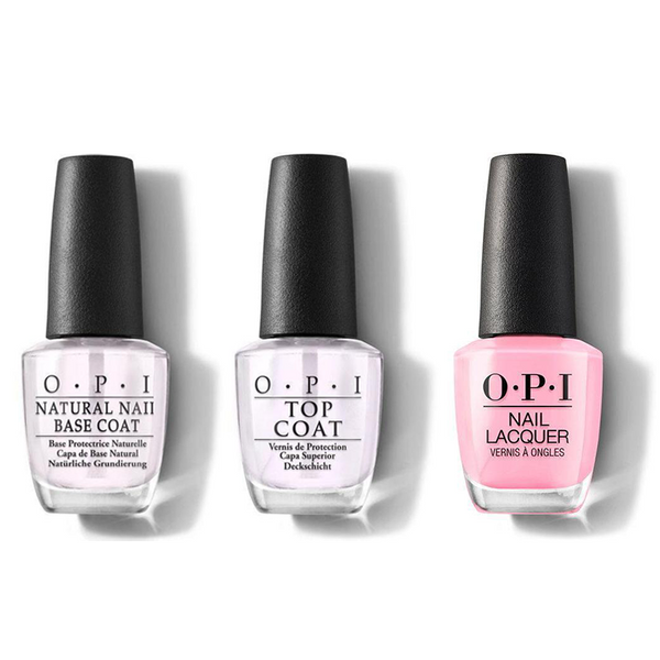 OPI - Nail Lacquer Combo - Base, Top & Pink-ing of You 0.5 oz - #NLS95
