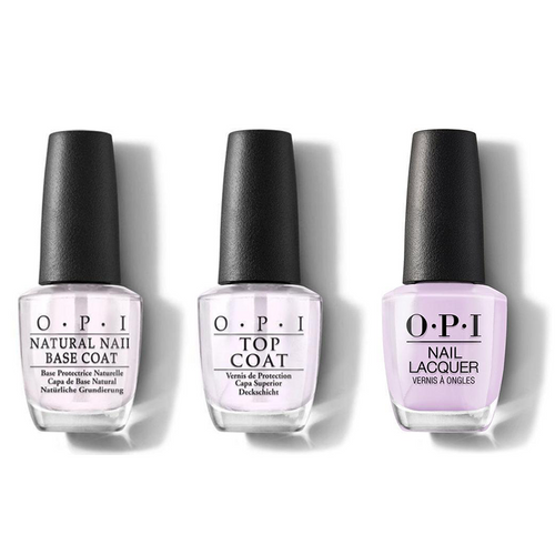 OPI - Nail Lacquer Combo - Base, Top & Polly Want a Lacquer? 0.5 oz - #NLF83