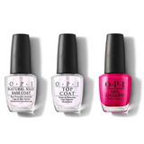 OPI - Nail Lacquer Combo - Base, Top & Pompeii Purple 0.5 oz - #NLC09