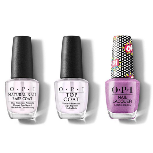 OPI - Nail Lacquer Combo - Base, Top & Pop Star 0.5 oz - #NLP51