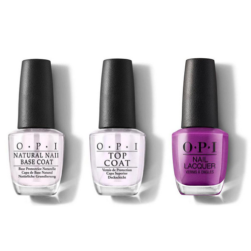 OPI - Nail Lacquer Combo - Base, Top & Positive Vibes Only 0.5 oz - #NLN73