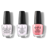 OPI - Nail Lacquer Combo - Base, Top & Princesses Rule! 0.5 oz - #NLR44