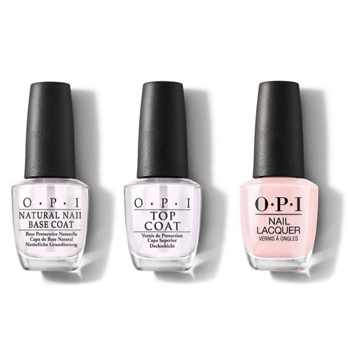 OPI - Nail Lacquer Combo - Base, Top & Put It In Neutral 0.5 oz - #NLT65