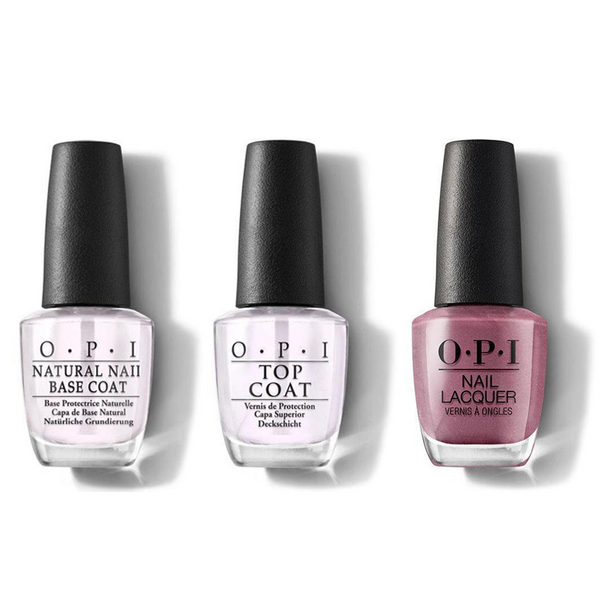 OPI - Nail Lacquer Combo - Base, Top & Reykjavik Has All the Hot Spots 0.5 oz - #NLI63
