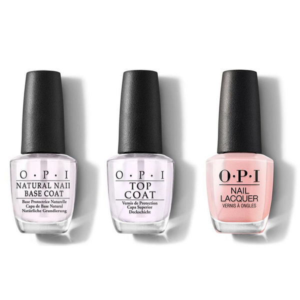 OPI - Nail Lacquer Combo - Base, Top & Rosy Future 0.5 oz - #NLS79