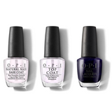 OPI - Nail Lacquer Combo - Base, Top & Russian Navy 0.5 oz - #NLR54