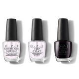 OPI - Nail Lacquer Combo - Base, Top & ShhIt's Top Secret! 0.5 oz - #NLW61