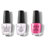 OPI - Nail Lacquer Combo - Base, Top & Shorts Story 0.5 oz - #NLB86