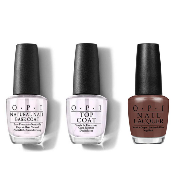 OPI - Nail Lacquer Combo - Base, Top & Squeaker of the House 0.5 oz - #NLW60