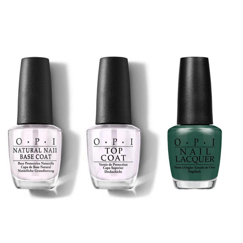 OPI - Nail Lacquer Combo - Base, Top & Stay Off the Lawn!! 0.5 oz - #NLW54