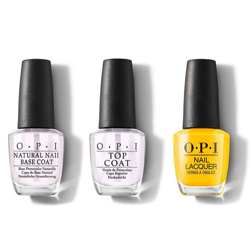 OPI - Nail Lacquer Combo - Base, Top & Sun, Sea, and Sand in My Pants 0.5 oz - #NLL23