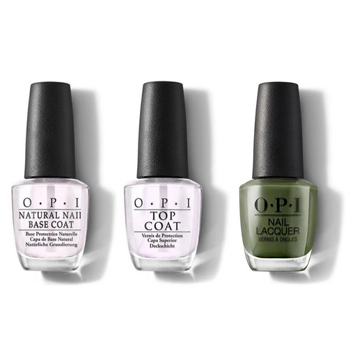 OPI - Nail Lacquer Combo - Base, Top & Suzi The First Lady of Nails 0.5 oz - #NLW55