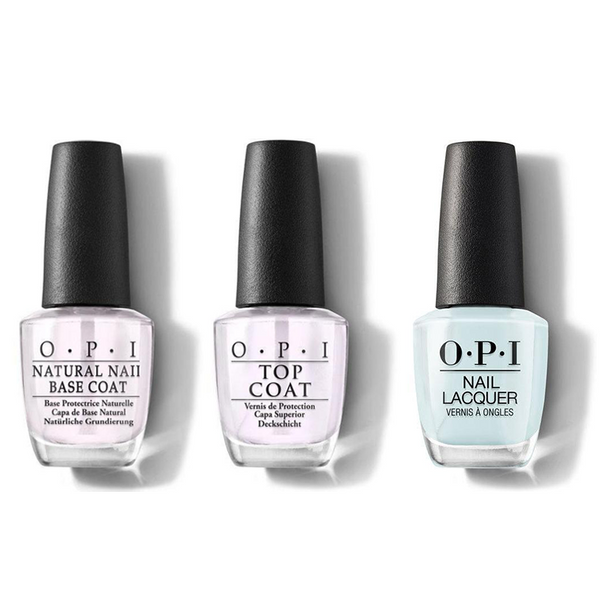OPI - Nail Lacquer Combo - Base, Top & Suzi Without a Paddle 0.5 oz - #NLF88