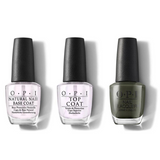 OPI - Nail Lacquer Combo - Base, Top & Things I've Seen In Aber-green 0.5 oz - #NLU15