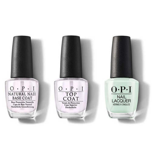 OPI - Nail Lacquer Combo - Base, Top & This Cost Me A Mint 0.5 oz - #NLT72