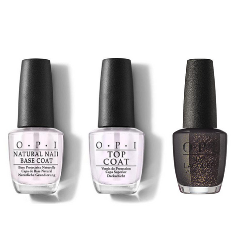 OPI - Nail Lacquer Combo - Base, Top & Top the Package with a Beau 0.5 oz - #NLHRJ011