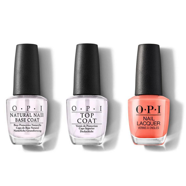 OPI - Nail Lacquer Combo - Base, Top & Toucan Do It If You Try 0.5 oz - #NLA67