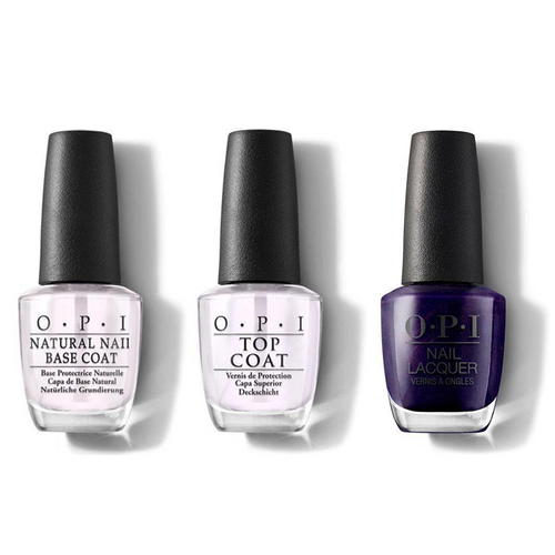 OPI - Nail Lacquer Combo - Base, Top & Turn On the Northern Lights! 0.5 oz - #NLI57