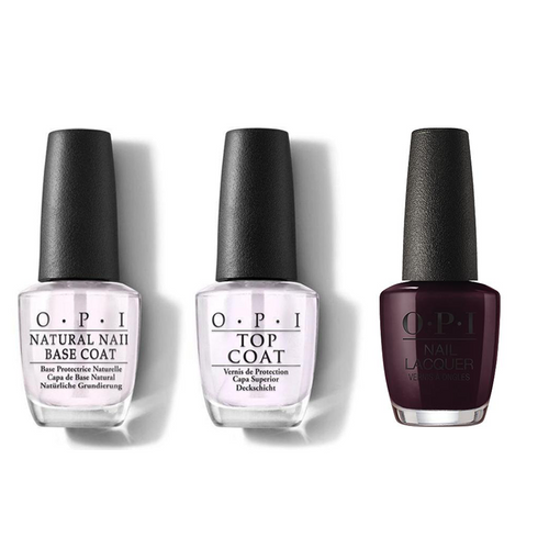 OPI - Nail Lacquer Combo - Base, Top & Wanna Wrap? 0.5 oz - #NLHRJ06