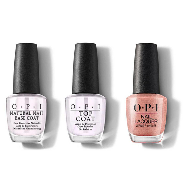 OPI - Nail Lacquer Combo - Base, Top & Worth a Pretty Penne 0.5 oz - #NLV27