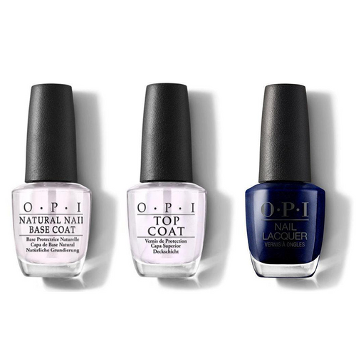 OPI - Nail Lacquer Combo - Base, Top & Yoga-ta Get this Blue! 0.5 oz - #NLI47