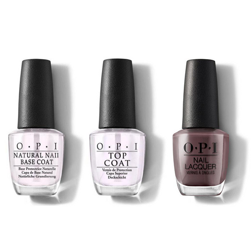 OPI - Nail Lacquer Combo - Base, Top & You Don't Know Jacques! 0.5 oz - #NLF15