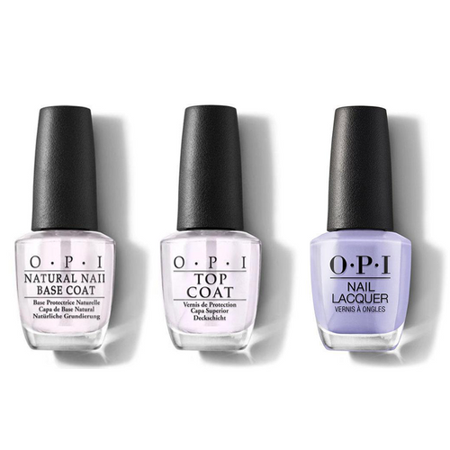 OPI - Nail Lacquer Combo - Base, Top & You're Such a BudaPest 0.5 oz - #NLE74