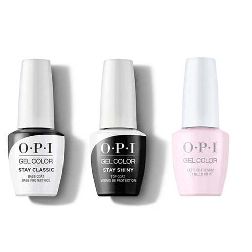 OPI - GelColor Combo - Stay Classic Base, Shiny Top & Let's Be Friends!