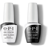 OPI GelColor - Stay Classic Base & Stay Shiny Top Coat 0.5 oz