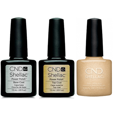 CND - Shellac Combo - Base, Top & Get That Gold