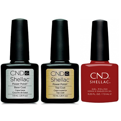 CND - Shellac Combo - Base, Top & Bordeaux Babe
