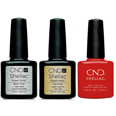 CND - Shellac Combo - Base, Top & Devil Red