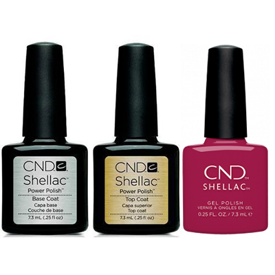 CND - Shellac Combo - Base, Top & How Merlot