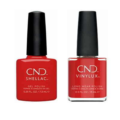CND - Shellac & Vinylux Combo - Devil Red
