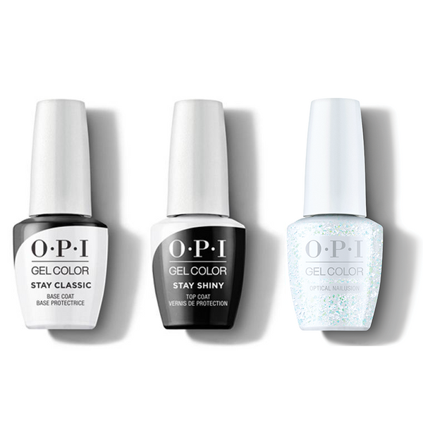 OPI - GelColor Combo - Stay Classic Base, Shiny Top & Optical Nailusion