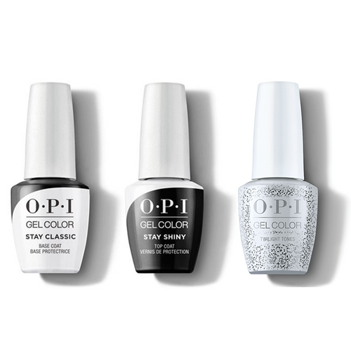 OPI - GelColor Combo - Stay Classic Base, Shiny Top & Twilight Tones