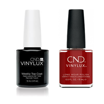 CND - Vinylux Topcoat & Bordeaux Babe 0.5 oz - #365