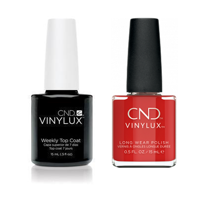 CND - Vinylux Topcoat & Devil Red 0.5 oz - #364