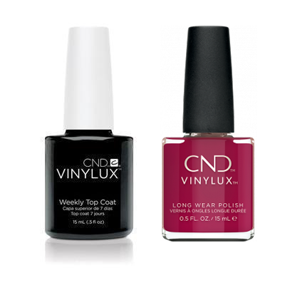 CND - Vinylux Topcoat & How Merlot 0.5 oz - #366