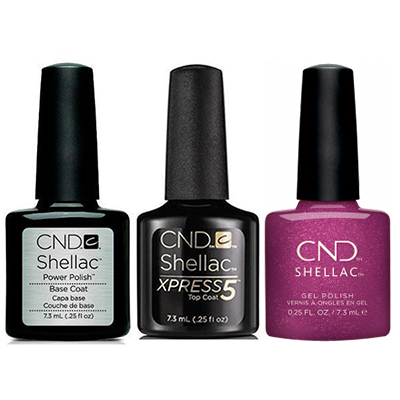 CND - Shellac Xpress5 Combo - Base, Top & Drama Queen (0.25 oz)