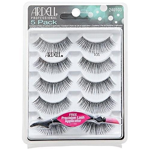 Ardell - Strip Lashes Multipacks - 5 Pack Natural 105 Black