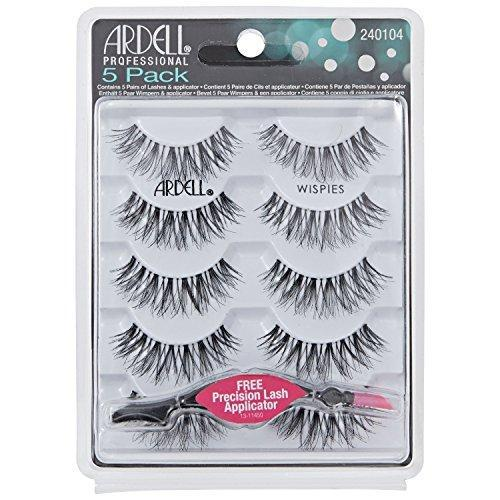 Ardell - Strip Lashes Multipacks - 5 Pack Wispies Black