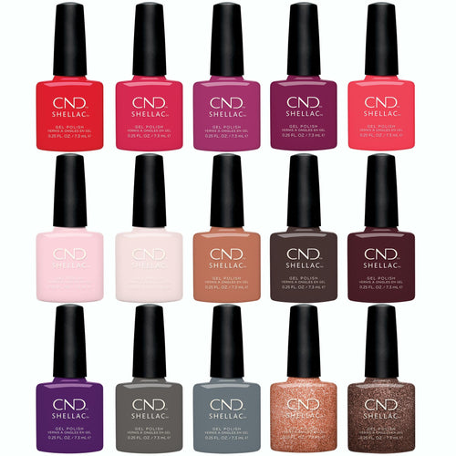 CND - Shellac 15 Exclusive Shades Collection (0.25 oz)
