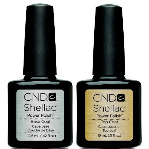 CND Shellac - Base & Top Coat 0.5 oz