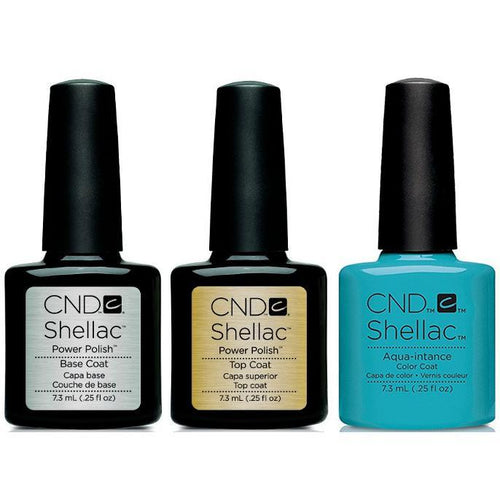 CND - Shellac Combo - Base, Top & Aqua-intance