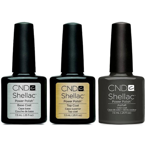 CND - Shellac Combo - Base, Top & Asphalt