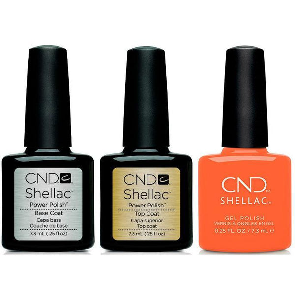 CND - Shellac Combo - Base, Top & B-Day Candle