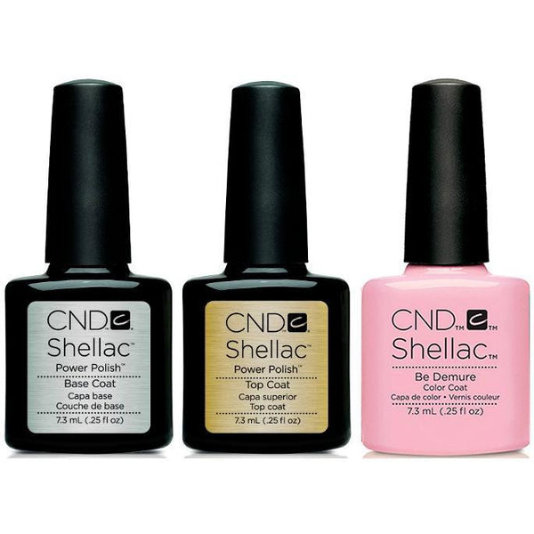 CND - Shellac Combo - Base, Top & Be Demure