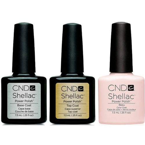 CND - Shellac Combo - Base, Top & Beau